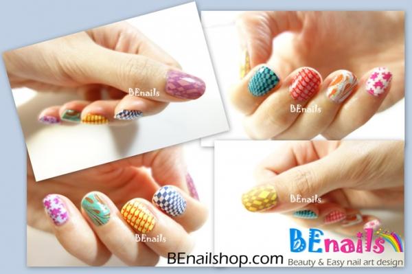 BEnails指彩-一口气示范十款夏日必备转印指甲彩绘 .