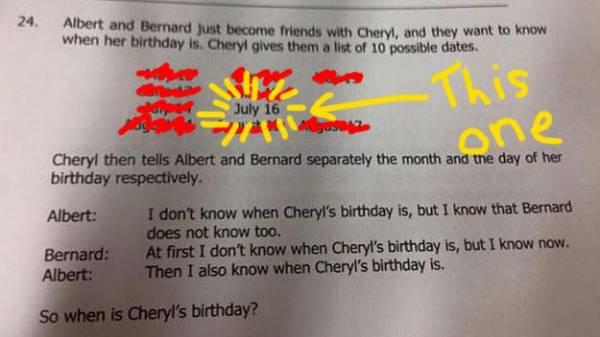 CHERYL'S BIRTHDAY IS ON JULY 16!